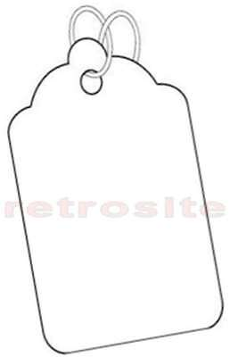 200 White Merchandisejewelry Price Tags Blank Wstrings Strung 5-best Quality-