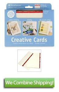 Strathmore-Full-Size-Creative-Cards-White-with-Red-Deckle-20-Cards