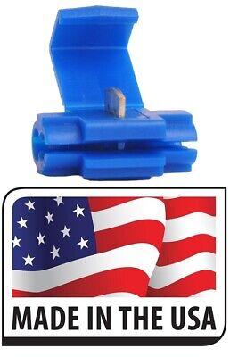500 Blue 18-14 Ga Awg Scotch Lock Quick Splice Electrical Terminal Made In Usa