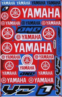 New Yamaha Motorcycle Racing R1 R6 Raptor Dirt Bike Vinyl Decals/Stickers (st12) for sale  Shipping to Canada