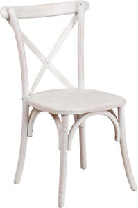 100 - RESTAURANT CROSS BACK WOODEN DINING CHAIR Peterborough Peterborough Area image 3
