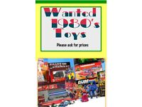 Wanted 1980's vintage toys