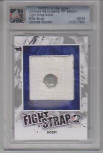 2010-11-ITG-Ultimate-Memorabilia-10th-ED-Mike-Bossy-Fight-Strap-Silver-3-3-UN
