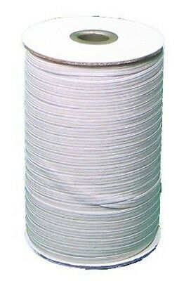 """White Braided Elastic 3/8"""" Roll 144 Yards for sewing, Washable and dry cleanable"""