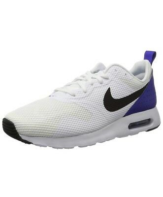 Men Nike Air Max Tavas Running/lifestyle Shoes White/Black/ Blue 705149 104 Sz14