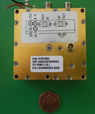 Herley Cti Phase Locked Pdro Precision Oscillator 15100 Mhz 15.1 Ghz Tested