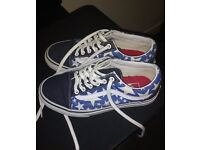 Size 3 blue and white vans