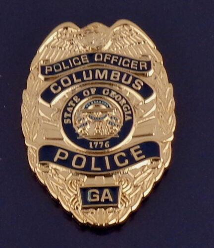 Columbus GA Georgia Police Officer Mini Badge Lapel Pin