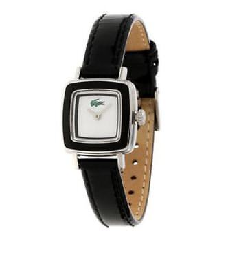 NWT Authentic LACOSTE Ladies Swing Black Bezel Quartz Watch 2000324 $165 for sale  Shipping to India