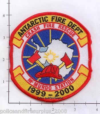 Antarctica - Antarctica McMurdo Station Fire Crash Rescue Fire Dept Patch