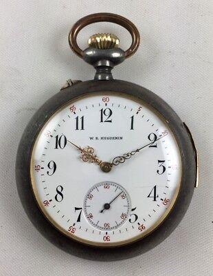 Old Vintage W.E. Huguenin Repeater Pocket Watch!