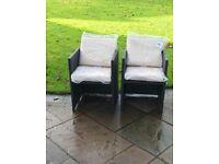 Rattan garden chairs