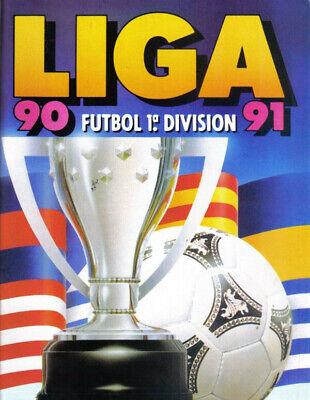 FACSIMIL STICKER ALBUM CROMOS FUTBOL LIGA ESTE 90 91 1990 1991 COMPLETO