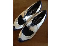 Ladies Office Retro Shoes Size 6.5 / 40 1950s Style