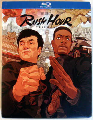 RUSH HOUR TRILOGY - 5xBLU-RAY - USA - REGION A - JACKIE CHAN / CHRIS TUCKER