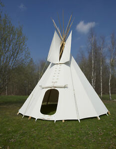 5 m 16 4 ft tipi indian tent tepee sioux style ebay. Black Bedroom Furniture Sets. Home Design Ideas