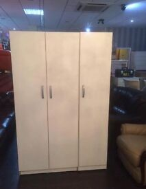 Three door wardrobe for sale