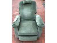 Electric reclining vibrating chair