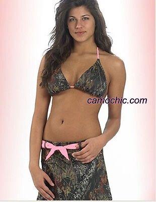 Mossy Oak Camo & Pink Swimwear, Swimsuit String Bikini To...