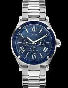Silver guess men's watch