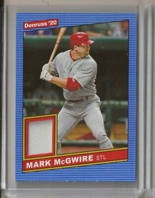 2020 Donruss Mark McGwire Materials Jersey Card