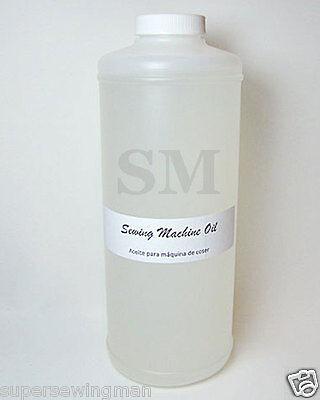 1 QUART CLEAR WHITE INDUSTRIAL & HOME SEWING MACHINE OIL
