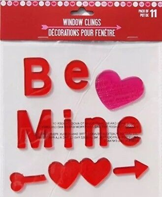 Holiday Valentines Day Be Mine Gel Window Clings - 11 Piece❤️💖