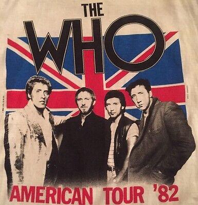Vintage The Who American Tour '82 Concert Shirt Size L