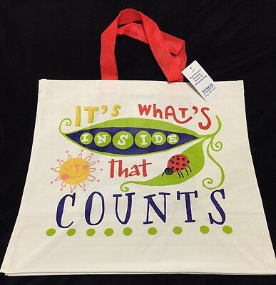 Tesco Its Whats Inside That Counts Bag Ladybug Sun Eco Reuse Gift Shop Tote