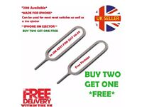 Sim Ejector Pin/Eject Key For iPhone 3 4 5 5S 6s 5 7 BUY TWO GET ONE FREE