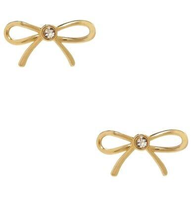 Kate Spade Gold Plated Ribbon Earrings