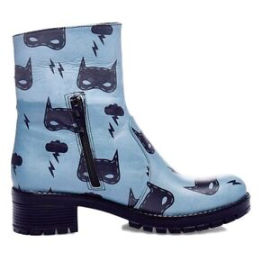 Women's Blue Leather Boots