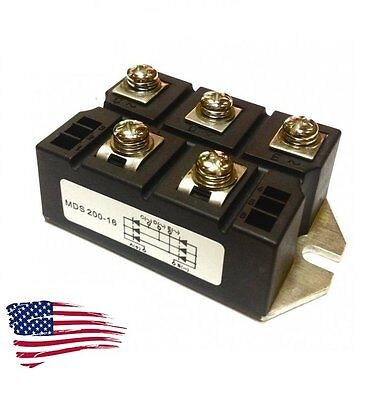 Us Ship New Mds200a 3-phase Diode Bridge Rectifier 200a Amp Power 1600v