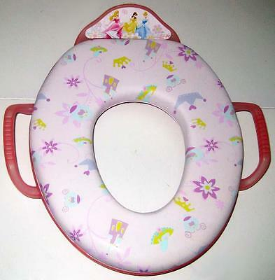 DISNEY PRINCESS PINK SOFT POTTY SEAT Toilet Training Ring with Handles ()