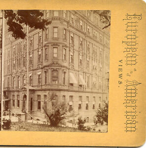 RENNERT HOTEL BALTIMORE MARYLAND EXTERIOR STEREOVIEW