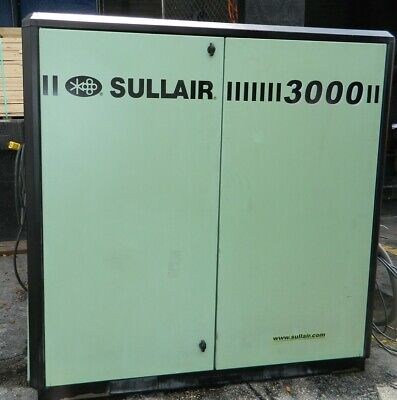 40hp Sullair Model 3009a Rotary Screw Air Compressor With 125 Psig 135 Max
