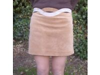 Ladies suede skirt