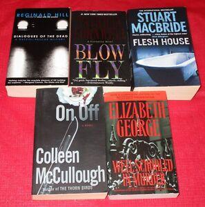 5x assorted paperback novels