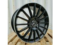 "LATEST 19"" MERCEDES C63 AMG BLACK EDITION ALLOY WHEELS X4 BOXED 5X112 C E CLASS C220 C200 C250"