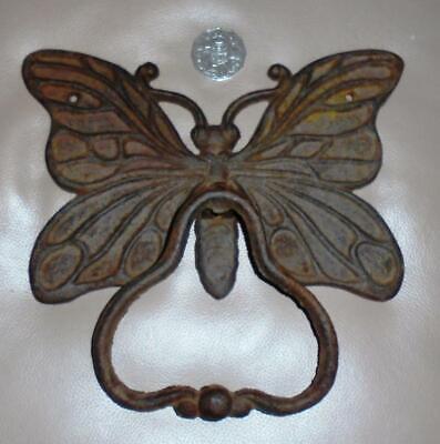 Vintage Cast Iron Door Knocker - Large  Butterfly