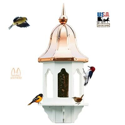 "36"" COPPER BELL TOP BIRD FEEDER - Weatherproof Vinyl Body EXTRA LARGE Amish USA"