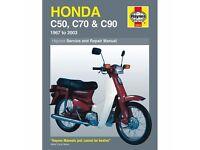 Honda C50, C70 & C90 Haynes Manual 1967-2003
