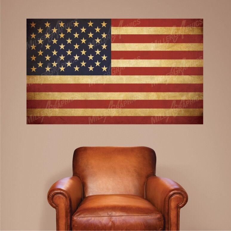 American Flag wall decal vinyl wall art mural sticker