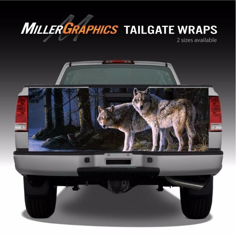 Wolf Scene Wolves Truck Tailgate Vinyl Graphic Decal Wrap