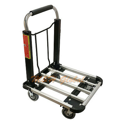 Professional Aluminum Foldable Platform Cart Folding Hand Truck 330 Lb Capacity