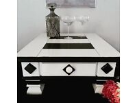 Black and White small Coffee Table