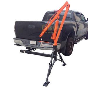 Hydraulic Hitch Mounted Truck Crane Hoist Lift 1000 LBs Capacity