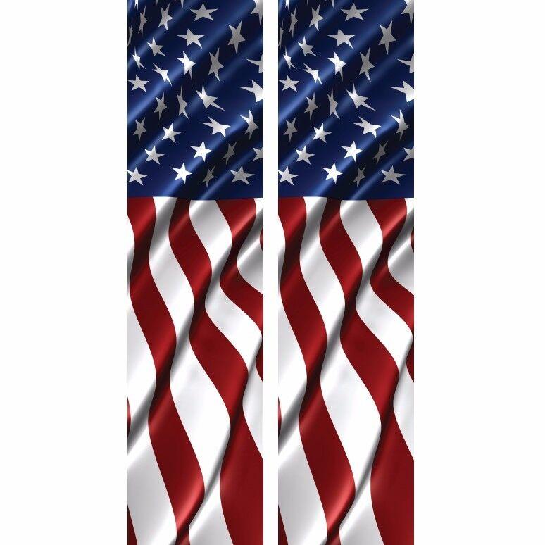 American Flag Waving 3 Truck Bed Band Stripe Decal