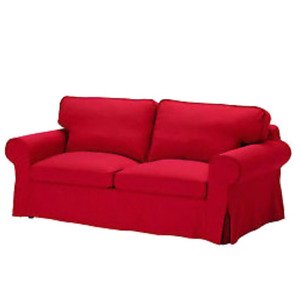 Red loveseat ektorp slipcover