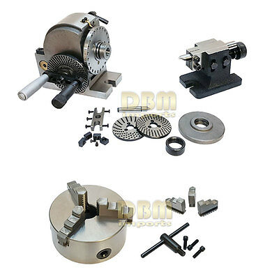 Bs-1 Semi-universal Dividing Head Tailstock And 6 3-jaw Chuck